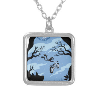 Moonlight Hangin' Silver Plated Necklace