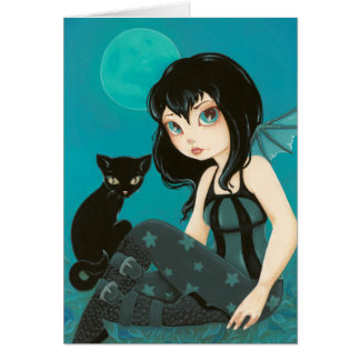 Moonlight Hijinks  -Color Me inside- fairy goth Greeting Card