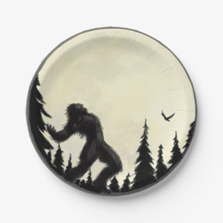 Moonlight howl 7 inch paper plate