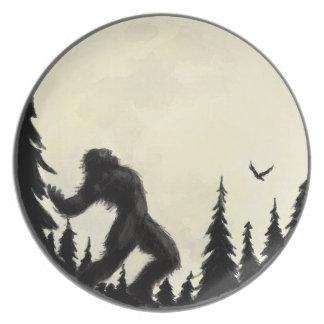 Moonlight Howl Melamine Plate
