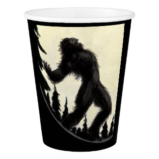 Moonlight Howl Paper Cup in black