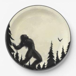 Moonlight Howl paper plate