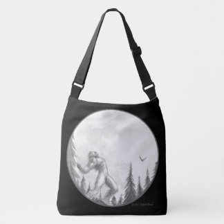 Moonlight Howl tote bag, all over print, large