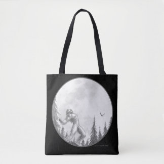Moonlight Howl tote bag by Bigfoot Bling