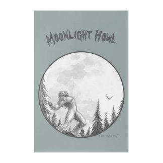 Moonlight Howl wall art on acrylic
