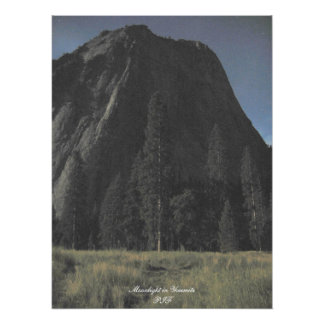 Moonlight in Yosemite Print
