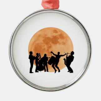 Moonlight Jazz Metal Ornament