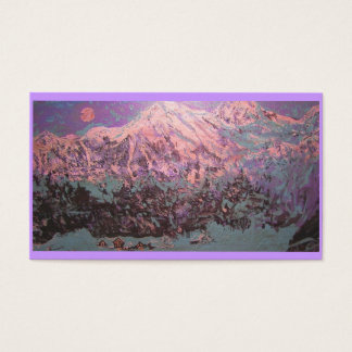 moonlight mountain snow business card