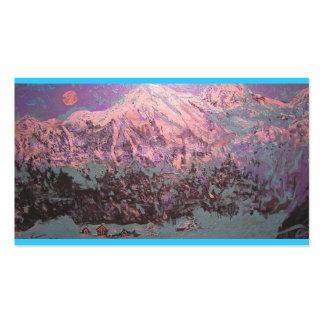 moonlight mountain snow business card