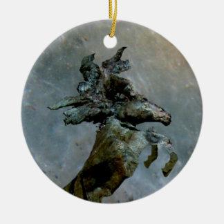 Moonlight Mustang Ceramic Ornament