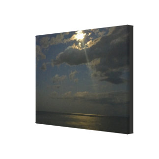 Moonlight On The Shore Canvas Print