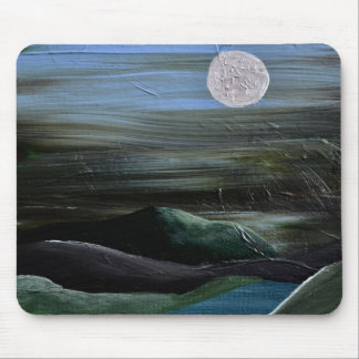 Moonlight Over the Hills Mouse Pad