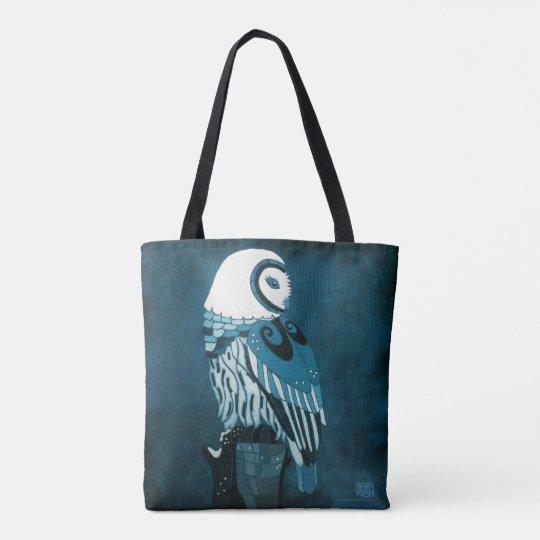 Moonlight Owl Art Tote Bag