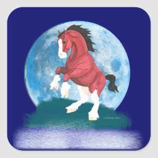 Moonlight Prancer Horse Sticker