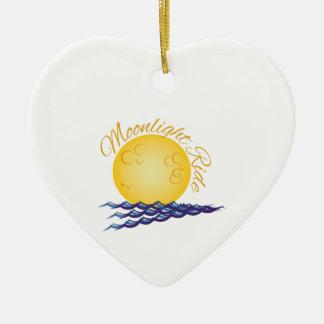 Moonlight Ride Ceramic Ornament