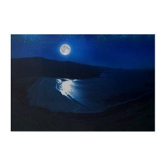Moonlight-Scotland Acrylic Wall Art