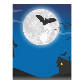 Moonlight sky letterhead