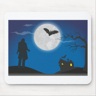 Moonlight sky mouse pad