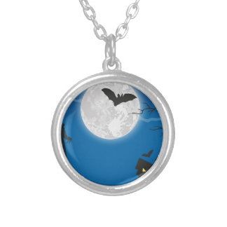 Moonlight sky silver plated necklace