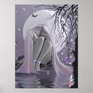 Moonlight Sleeper on canvas Poster