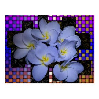 Moonlight Stardus Plumeria tWeave Postcard