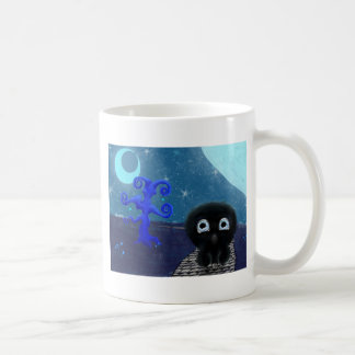 Moonlight stargazing coffee mug