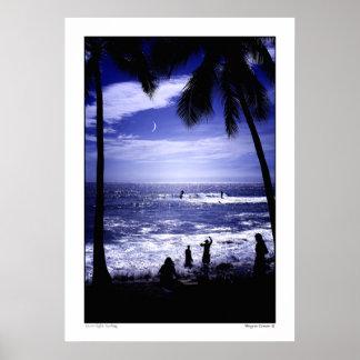 Moonlight Surfing Poster