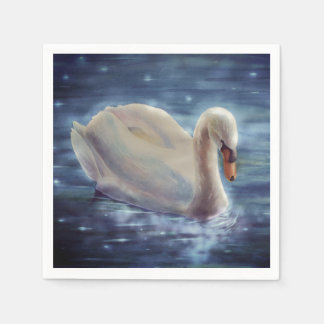 Moonlight Swan Napkin