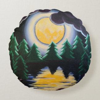 """Moonlight through the Pines"" Throw Pillow"