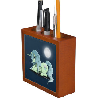 Moonlight Unicorn Desk Pencil Organizer