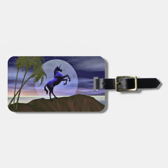 Moonlight Unicorn Luggage Tag