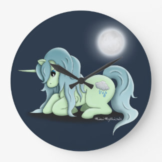 Moonlight Unicorn Round Clock