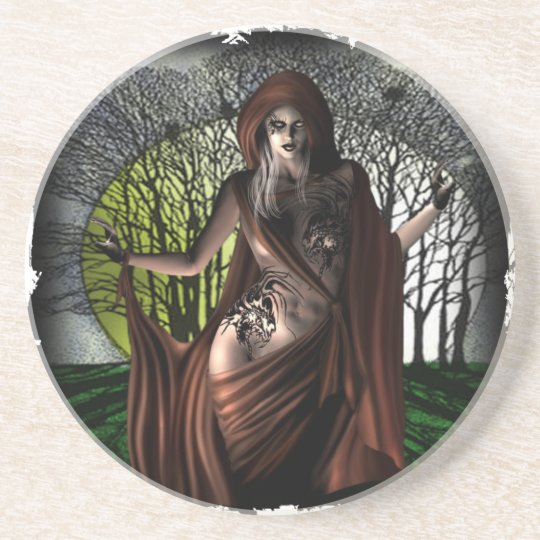 Moonlight Vamp - Sandstone Drink Coaster