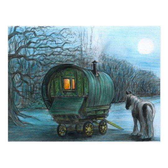 Moonlight wagon postcard