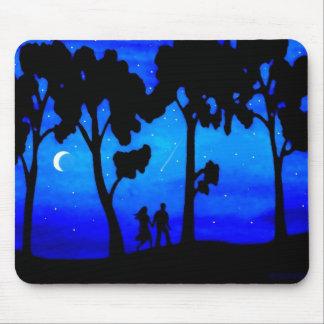 Moonlight Walk Mouse Pads