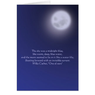 Moonlight with quote card