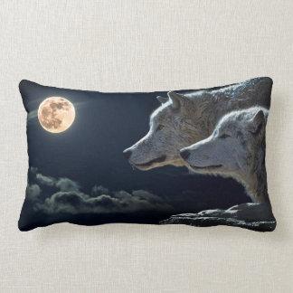 Moonlight Wolf Lumbar Cushion