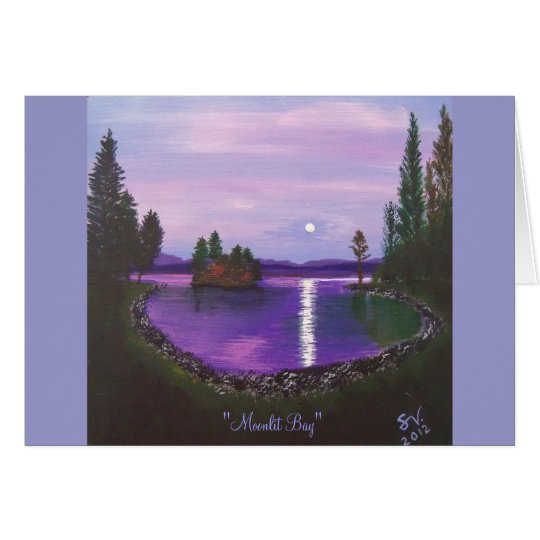 Moonlit Bay Card