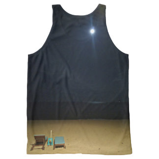 moonlit beach All-Over-Print tank top