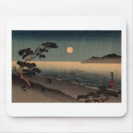 Moonlit Beach in Japan no.1 Mouse Pad
