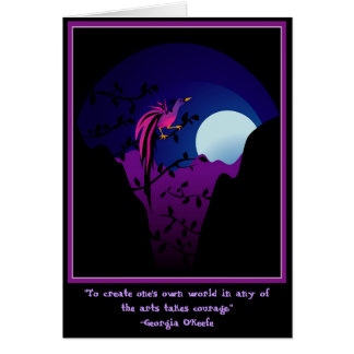 Moonlit Bird of Paradise Card