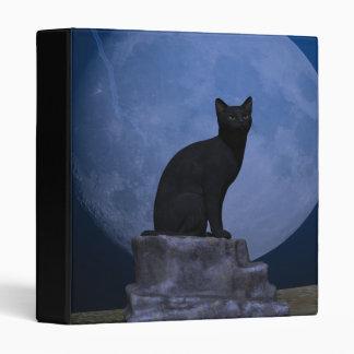 Moonlit Cat 3 Ring Binders