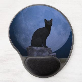 Moonlit Cat Gel Mouse Pad