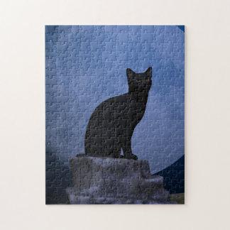 Moonlit Cat Jigsaw Puzzle