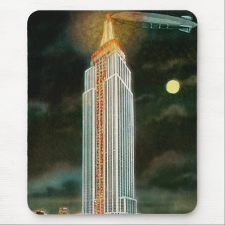 Moonlit Empire State Building Mouse Pads