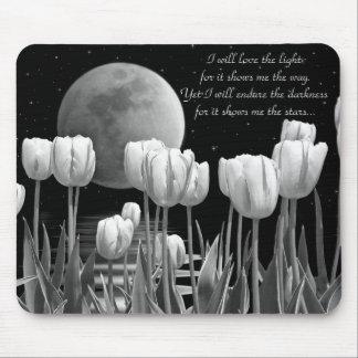 Moonlit Garden Mouse Pad