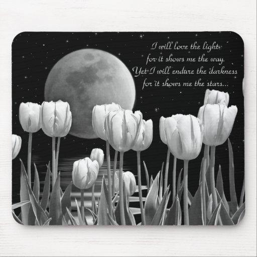 Moonlit Garden Mousepads