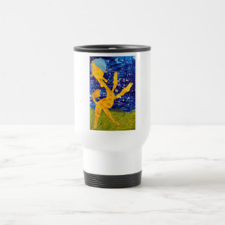 Moonlit Giraffe - Artwork by Carter - Age 7 Travel Mug