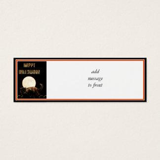 Moonlit Halloween Cat Mini Business Card