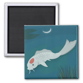 Moonlit Koi Vector Art Magnet